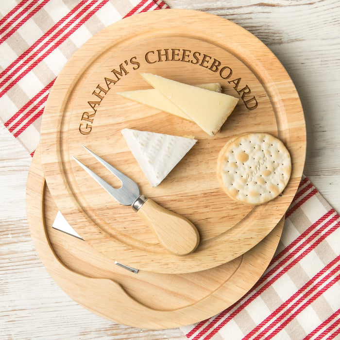 Personalised Cheeseboard - Round Engraved