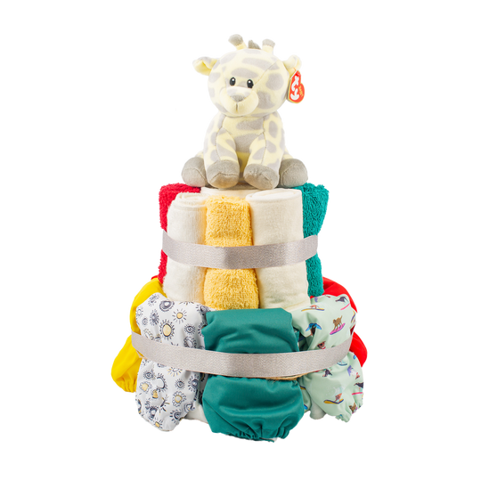 2-Tier Full Cloth Nappy Cake