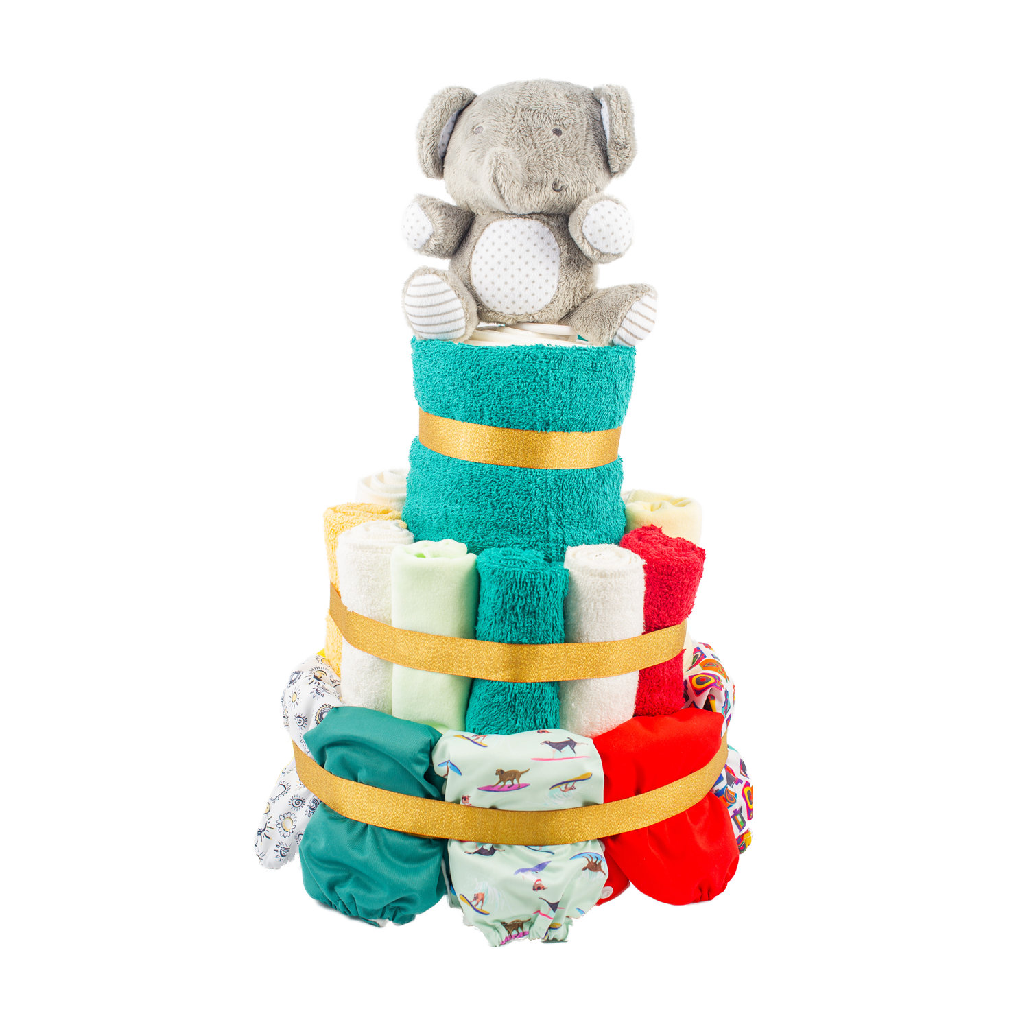 3-Tier Full Cloth Nappy Cake