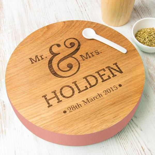 Personalised Mr & Mrs Solid Wood Board