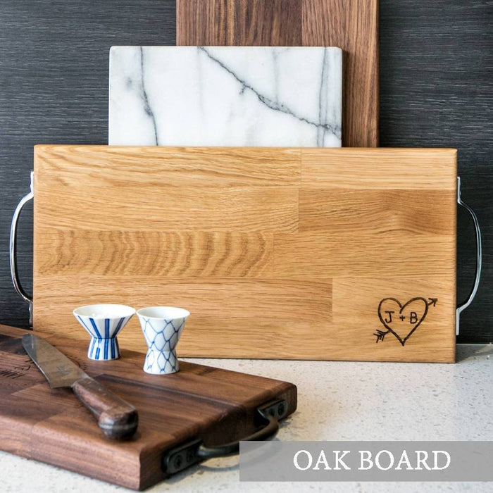 Personalised Initials Large Oak Serving Board | nappycakes-mt | Personalised Gift Items.