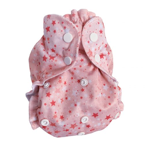 Starter Cloth Nappy Cake - Pink Applecheeks