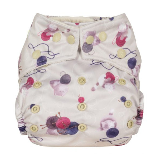 Baba and Boo One Size Pocket Cloth Nappy - Knitting | nappycakes-mt | Single Item.