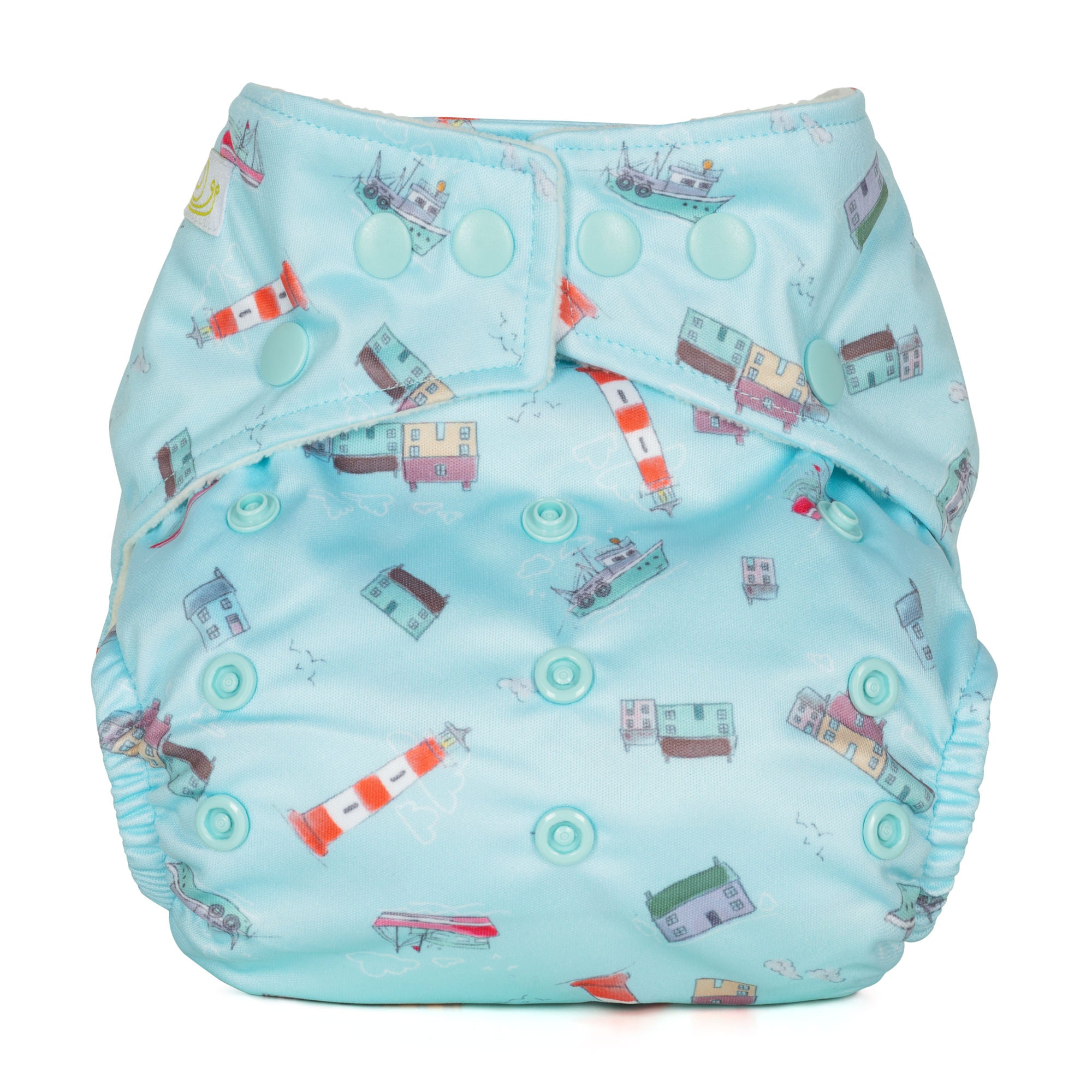 Baba and Boo One Size Pocket Cloth Nappy - Lighthouse