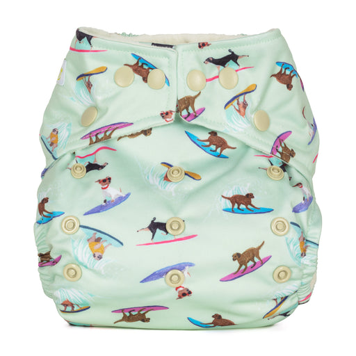 Baba and Boo One Size Pocket Cloth Nappy - Surfing | nappycakes-mt | Single Item.