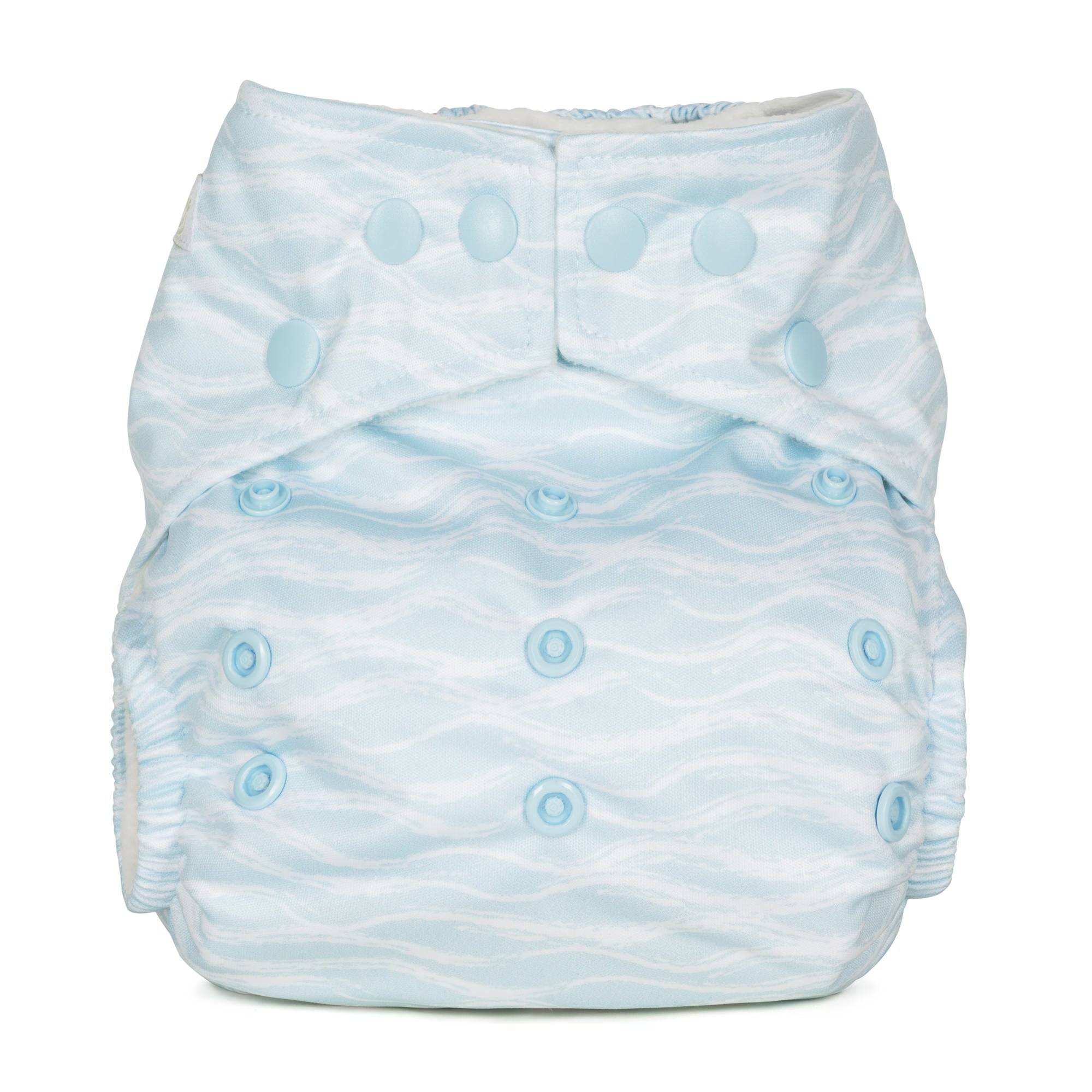 Baba and Boo One Size Pocket Cloth Nappy - Waves | nappycakes-mt | Single Item.