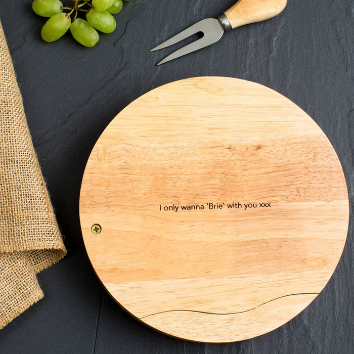 Couples Cheeseboard (4 lines) | nappycakes-mt | Personalised Gift Items.