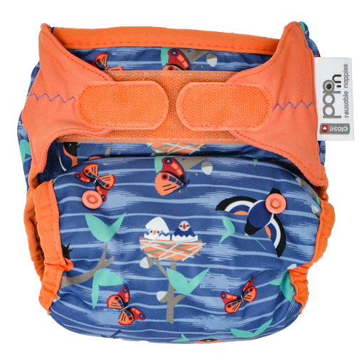 Close Parent All In Two Velcro Cloth Nappy - Twilight Garden