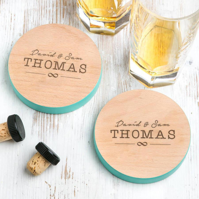 Couples Personalised Coasters Set