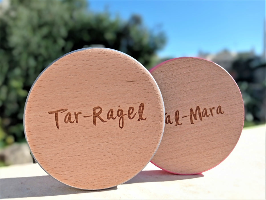 Wooden Coaster - Tar-Raġel | nappycakes-mt | Single Item.