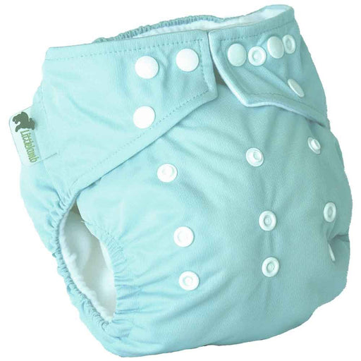 Little Lamb One Size Pocket Cloth Nappy - Baby Blue | nappycakes-mt | Single Item.