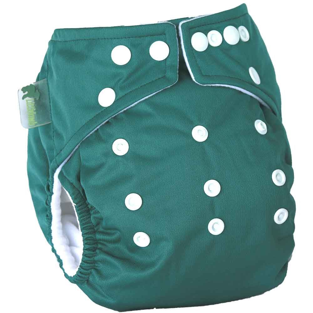 Little Lamb One Size Pocket Cloth Nappy - Green