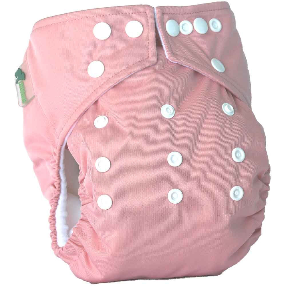 Little Lamb One Size Pocket Cloth Nappy - Pink | nappycakes-mt | Single Item.