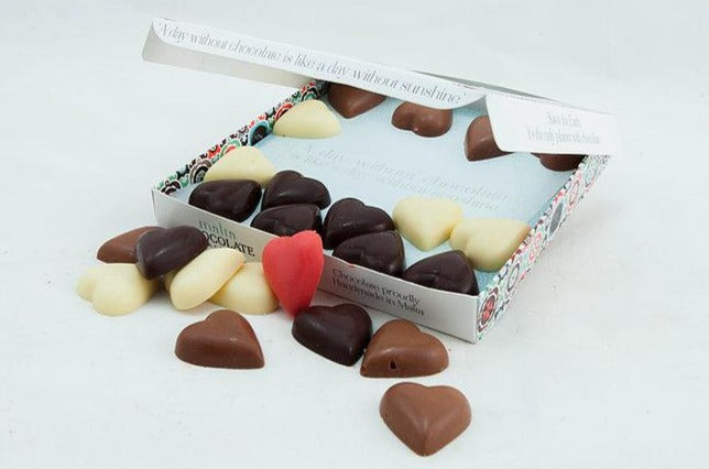 Valentine's Box of Hearts By Malta Chocolate Factory.