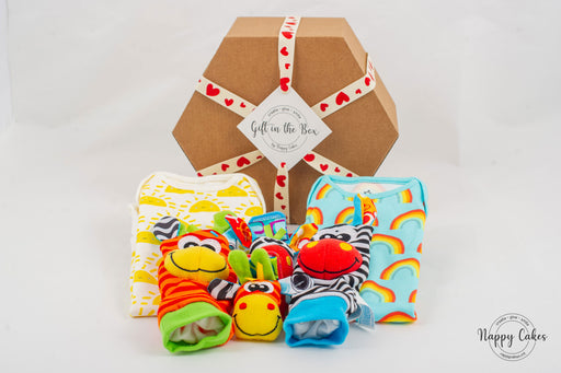 Baby Wear & Play Box - Coloured | nappycakes-mt | Gift Box.