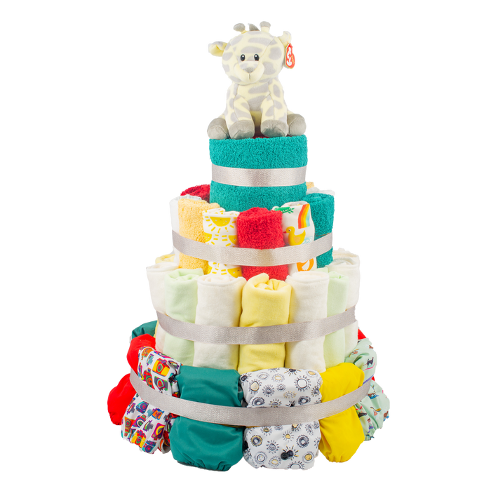 4-Tier Full Cloth Nappy Cake