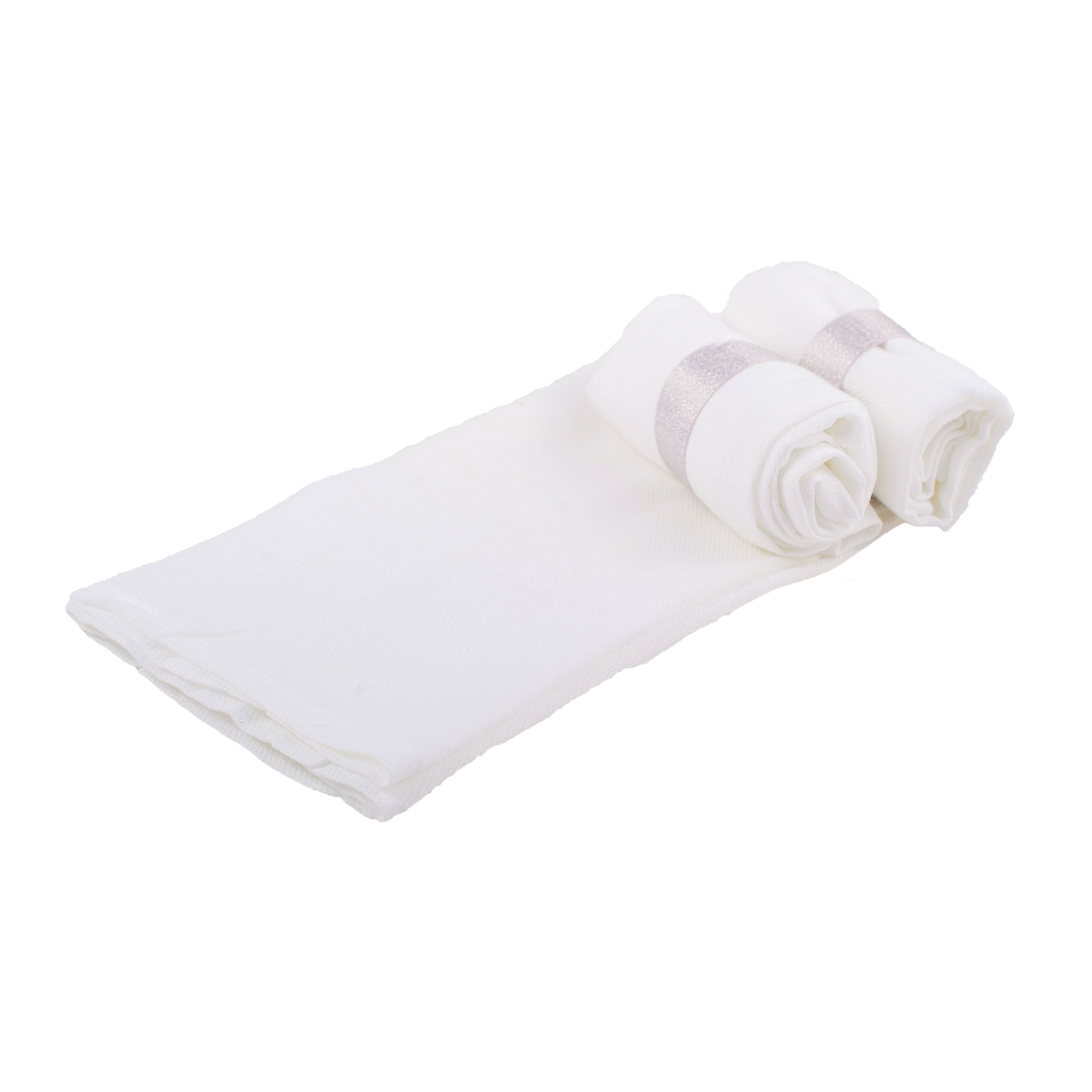 Muslin Squares x 12 - White