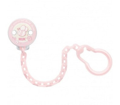 NUK Soother Chain - Pink | nappycakes-mt | Single Item.