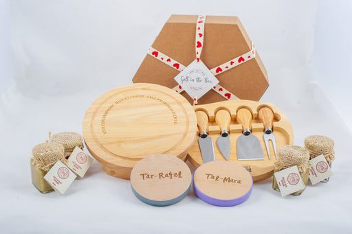 Couples Cheese Board Gift Box