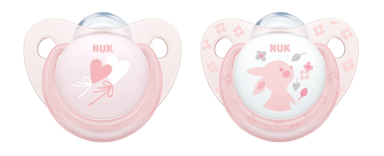 NUK Soothers (x2) - Pink | nappycakes-mt | Single Item.