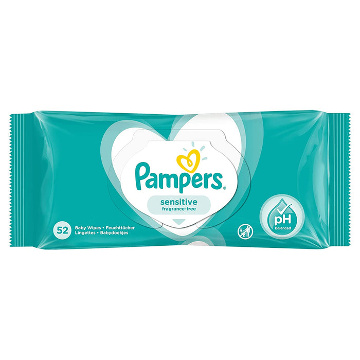 Pampers Sensitive Fragrance-Free Baby Wipes (x12).