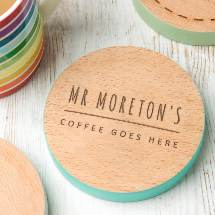 Personalised Wooden Coaster.