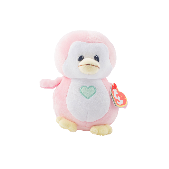 TY Baby - Penny Pink Penguin | nappycakes-mt | Single Item.
