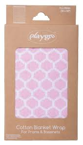 Playgro Knitted Honeycomb Blanket - Pink (76x102cm) | nappycakes-mt | Single Item.