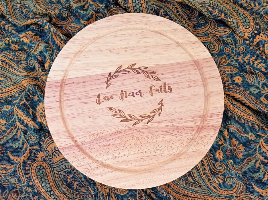 Cheese Board - Love Never Fails | nappycakes-mt | Single Item.