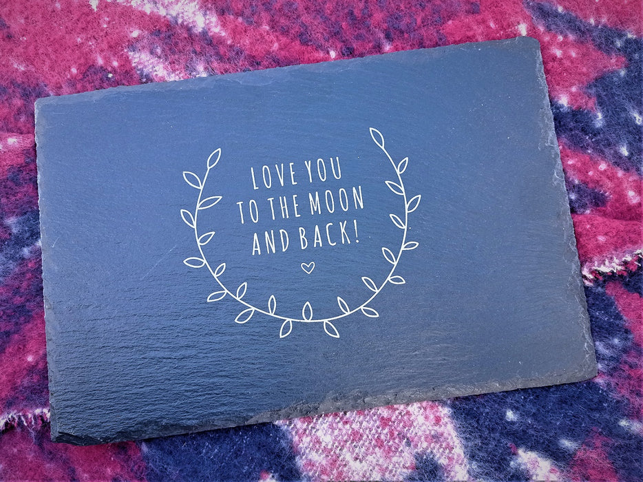 Slate Serving Board - Love you | nappycakes-mt | Single Item.