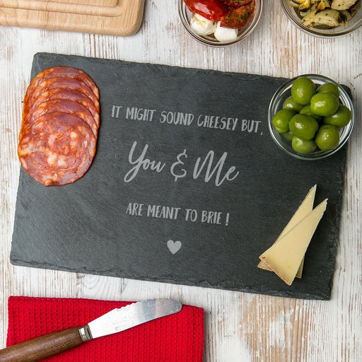 Slate Serving Board - You & Me | nappycakes-mt | Single Item.