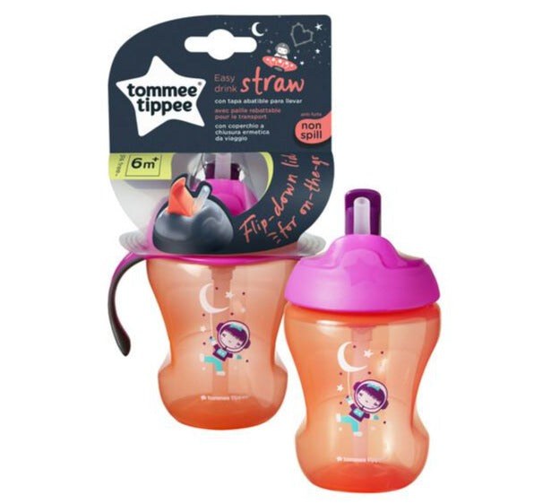 Tommee Tippee Cup with Straw - Girls | nappycakes-mt | Single Item.