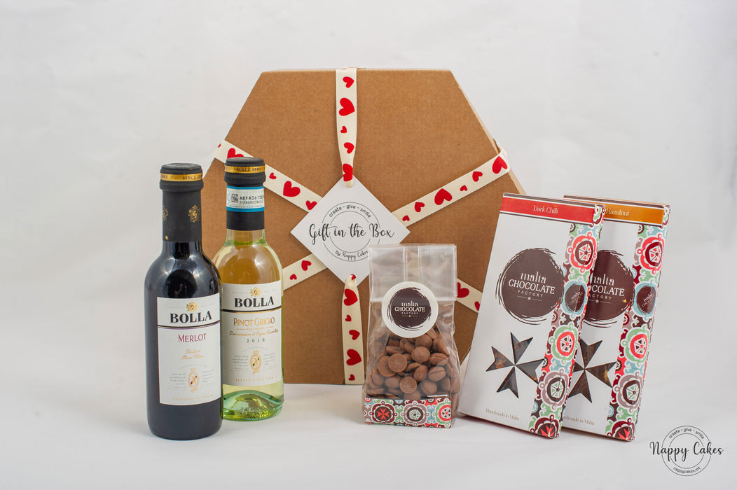 The Premium Wine & Chocolate Box | nappycakes-mt | Gift Box.