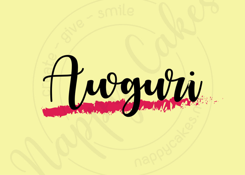 Awguri Greeting Card
