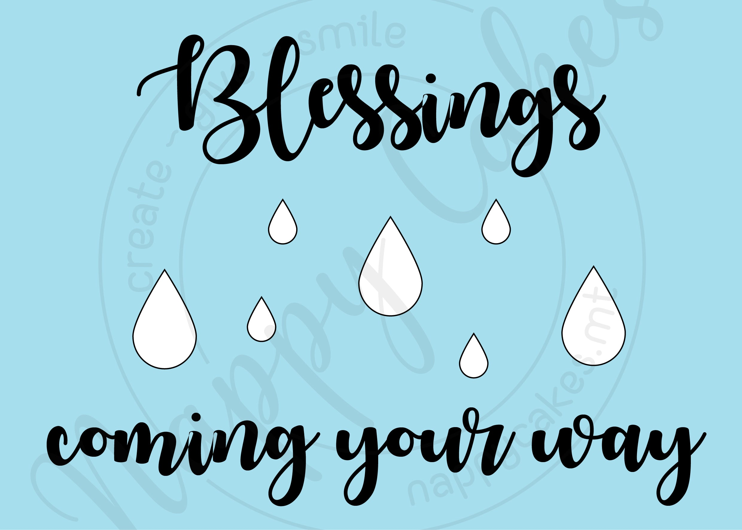 Blessings Coming Your Way Greeting Card