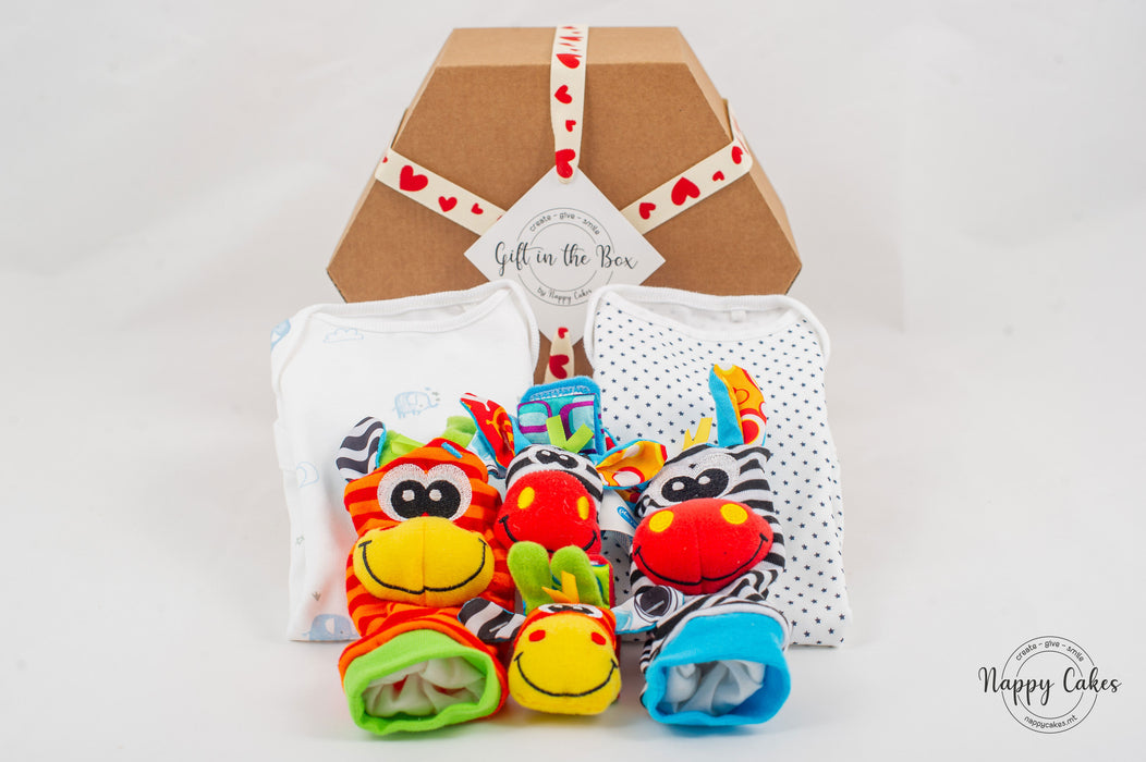 Baby Wear & Play Box - Blue | nappycakes-mt | Gift Box.
