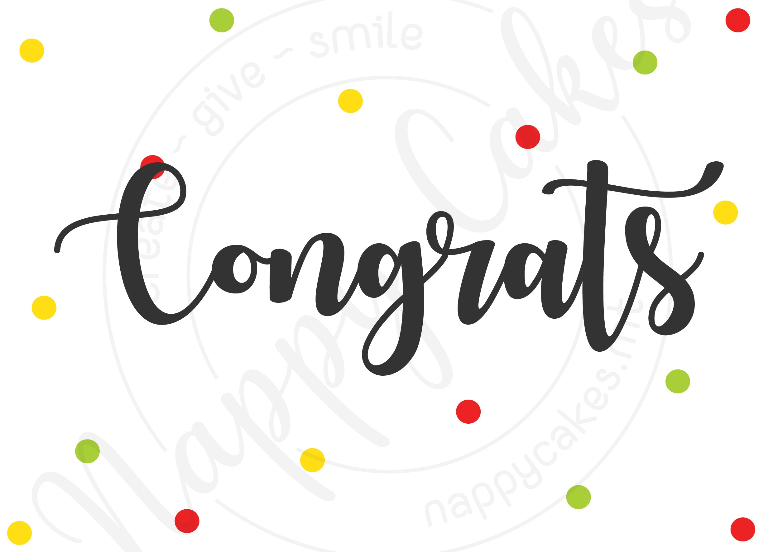 Congrats Greeting Card | nappycakes-mt | Greeting Card.