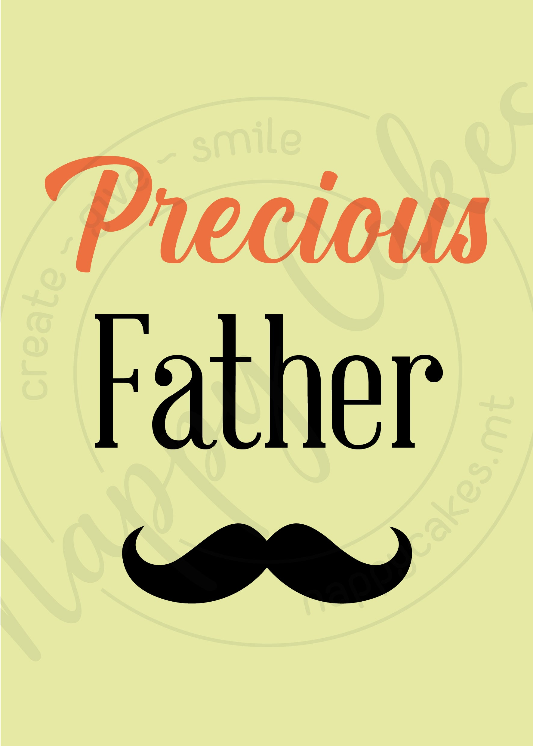 Precious Father Greeting Card | nappycakes-mt | Greeting Card.