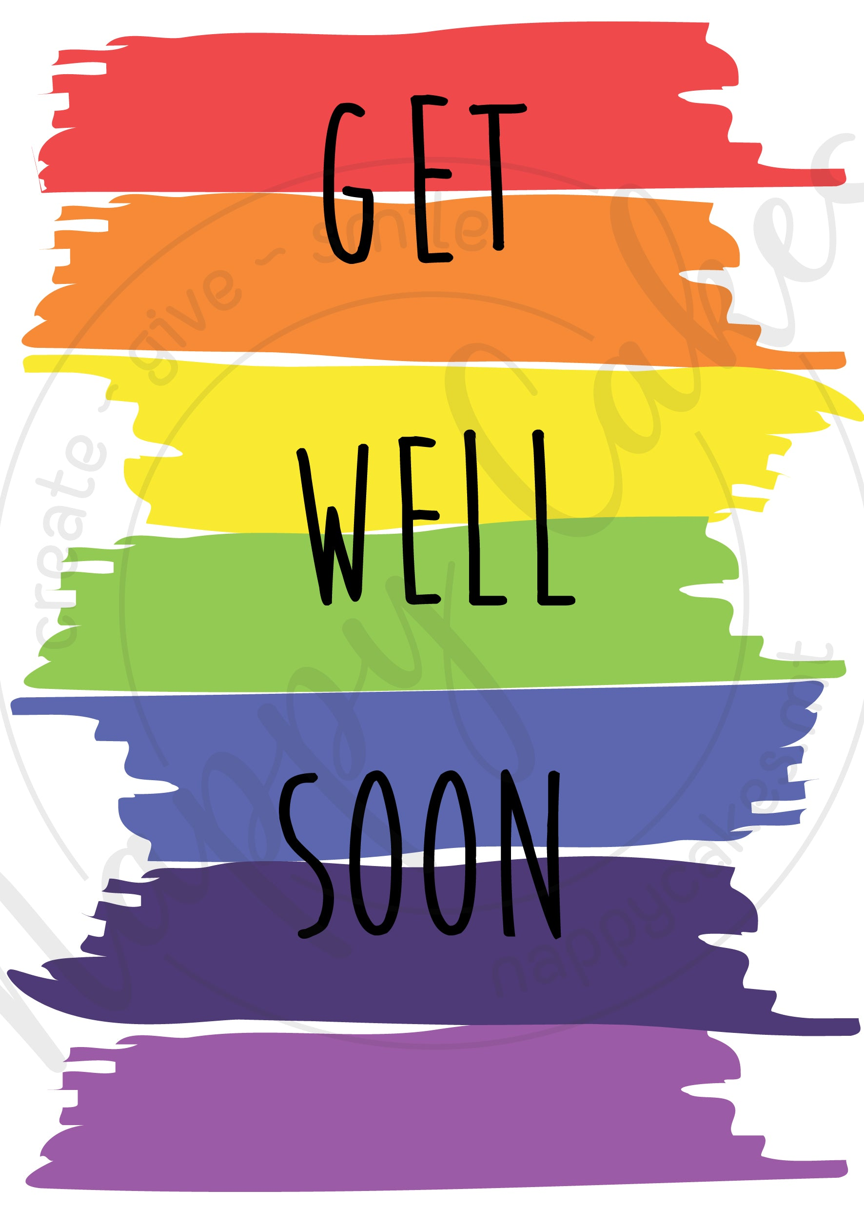 Get Well Soon Greeting Card | nappycakes-mt | Greeting Card.