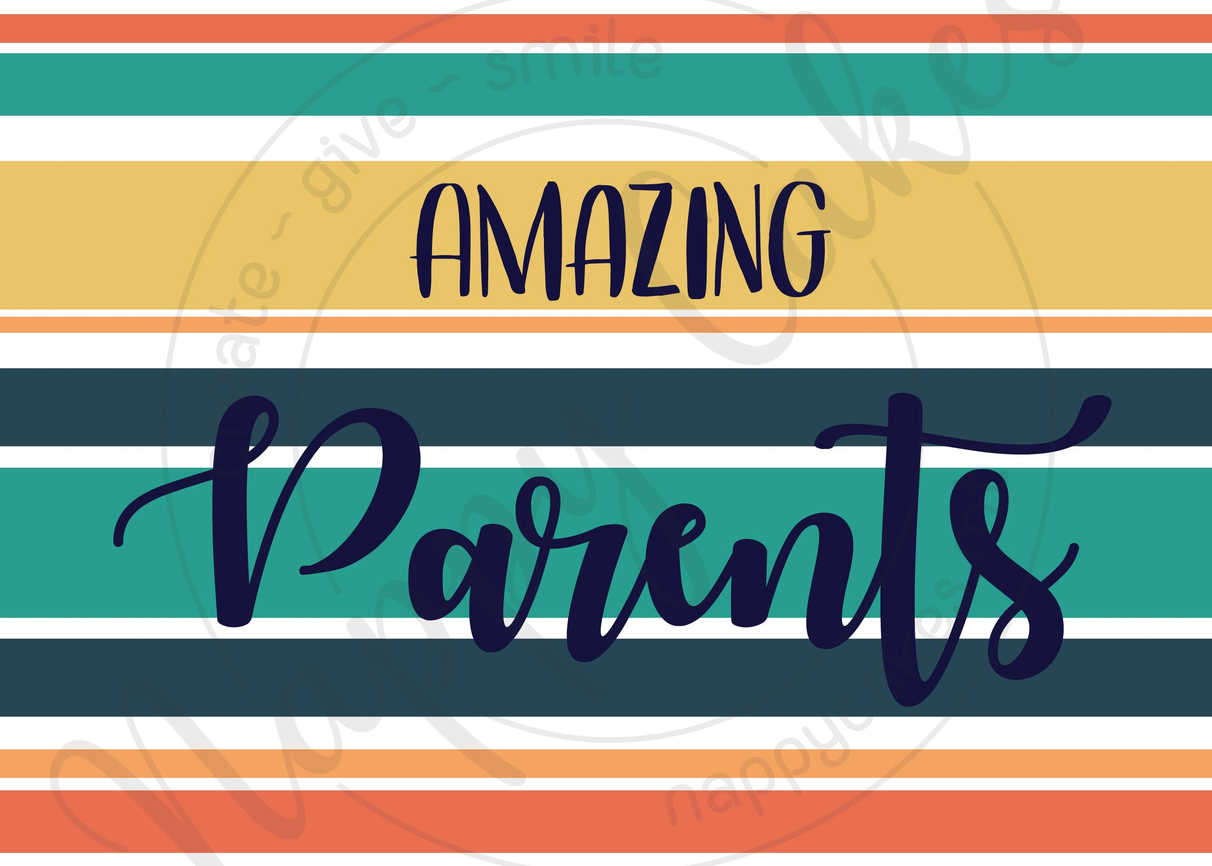 Amazing Parents Greeting Card | nappycakes-mt | Greeting Card.