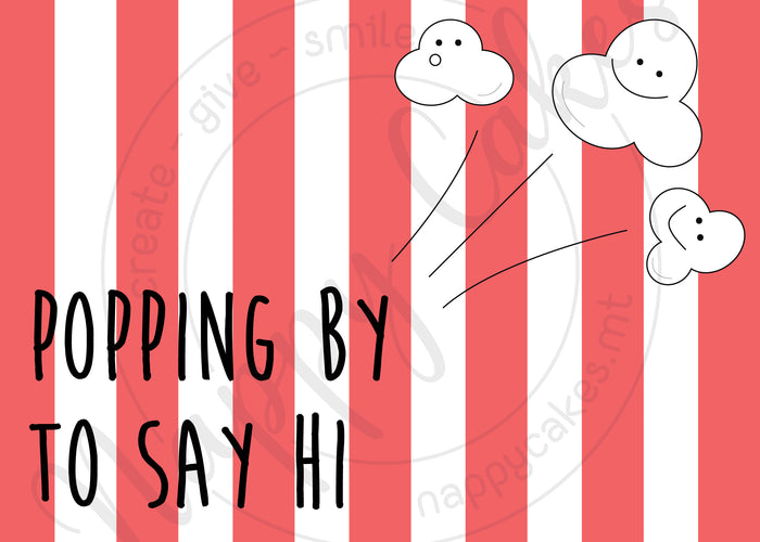 Popping By Greeting Card | nappycakes-mt | Greeting Card.