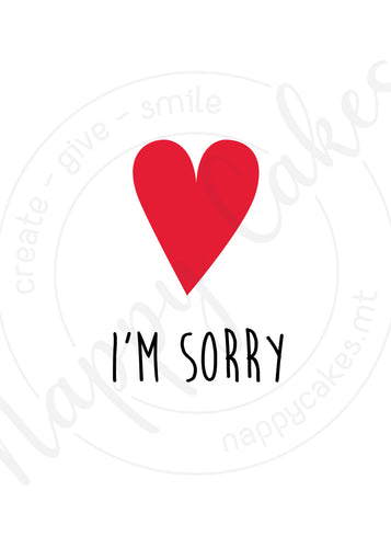 I'm Sorry Greeting Card | nappycakes-mt | Greeting Card.