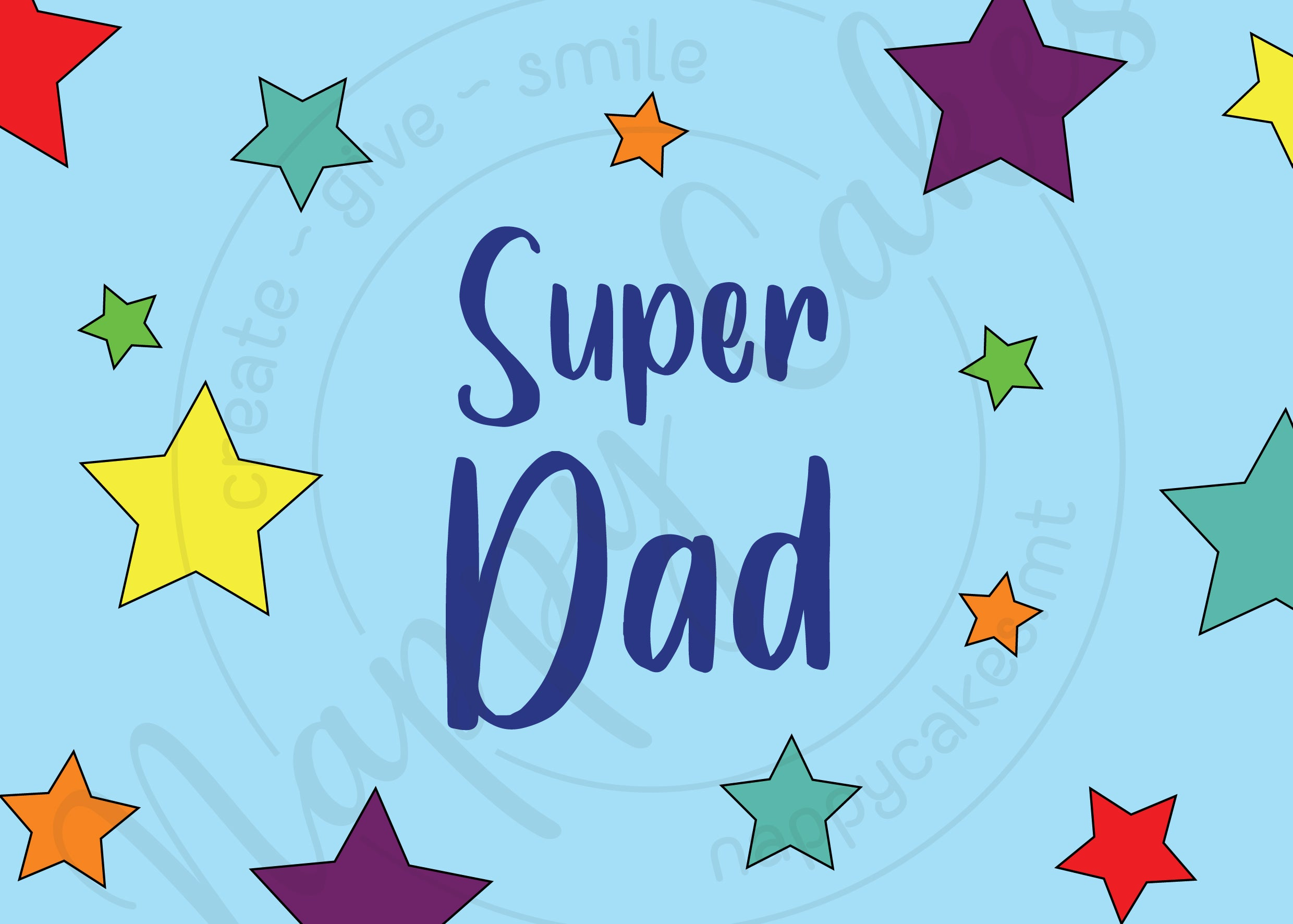 Super Dad Greeting Card | nappycakes-mt | Greeting Card.