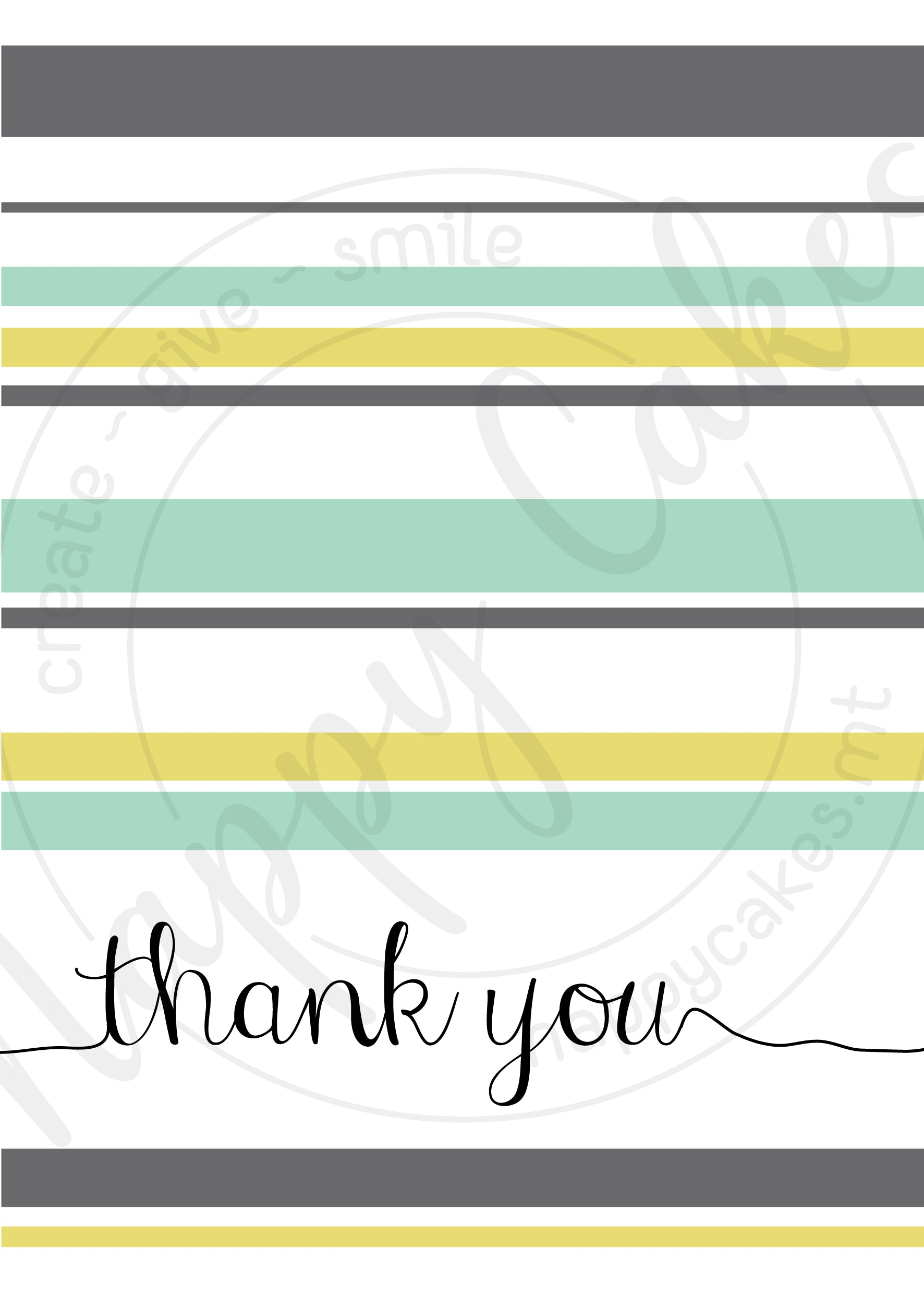 Thank You Greeting Card | nappycakes-mt | Greeting Card.