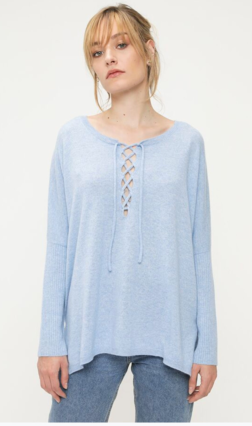 Not Shy - Camile Poncho Lacette knit