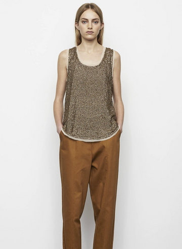 Rabens Saloner- Elfi Sequin Top Gold