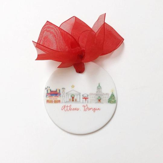 Athens, Georgia Holiday Skyline Ceramic Ornament