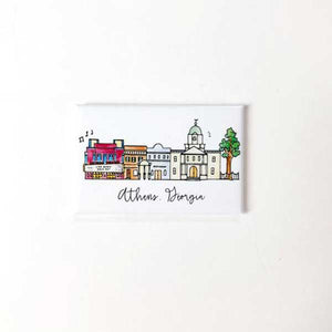 Athens, Georgia Skyline Watercolor Magnet