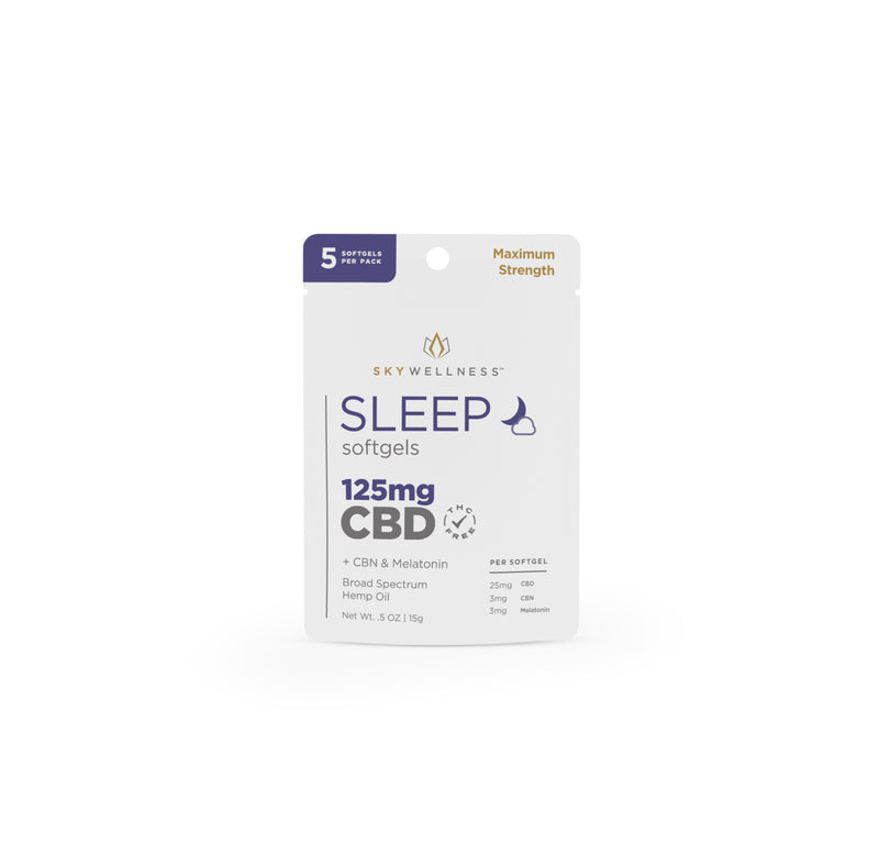 CBD Sleep Softgels SW 125mg 5ct + CBN + Melatonin