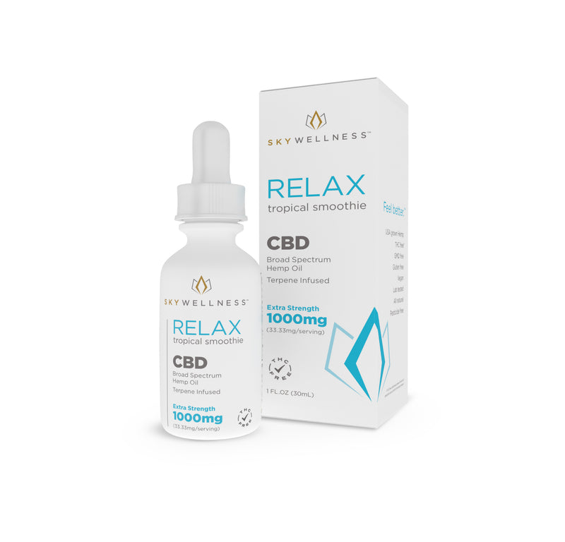 CBD Relax Tincture SW 1000mg Tropical Smoothie